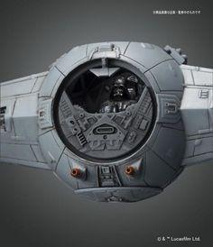 Model Kit Star Wars Tie Advanced x1 - Bandai: Store Be Nerd