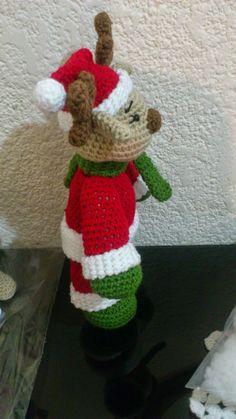 Amigurumi Doll, Amigurumi Patterns, Crochet Patterns, Christmas And New Year, Christmas Diy, Christmas Ornaments, Crochet Food, Crochet Hats, Amigurumi Tutorial