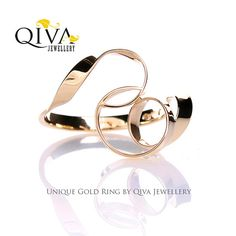 Unique Ring.Customizable Ring.White gold ring.Anniversary Ring.Handmade Ring.Curly ring.Gift for her  Etsy QivaJewellery