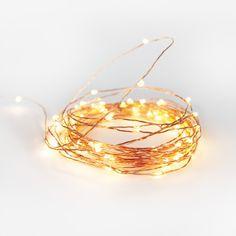 LOVE: copper wire string lights