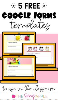 5 Ways to Use Google forms in the Classroom with FREE templates to use for your classroom! Your students will love using Google Forms and it will save you time, too! Learning Process, Learning Resources, Classroom Resources, Prodigy Math, Listen To Reading, Class Jobs, Technology Integration, Teacher Organization, Guided Math