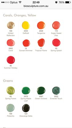 Bio Sculpture Colours Bio Sculpture Gel Nails, Funky Nail Designs, Spring Forest, Body Therapy, Body Spa, Funky Nails, Daffodils, Pretty Nails, Acrylic Nails