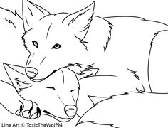 friendly wolf coloring pages - photo#29