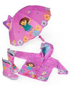 Kidorable Little Girls' or Toddler Girls' Dora the Explorer Rain Boots
