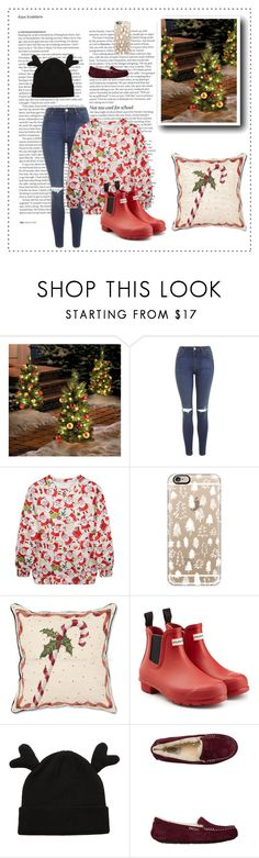 """""""Ugly sweater party♥.. #119"""" by rania-horan-stylinson-palik ❤ liked on Polyvore featuring Improvements, Topshop, Casetify, Hunter, UGG Australia, ASOS, Christmas, redwhiteandblue and wintersweater"""