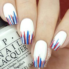 streifen Popular Of July Nails To Feel Like America's Supergir. , streifen Popular Of July Nails To Feel Like America's Supergirl. streifen streifen Popular Of July Nails To Feel Like America's Supergir. Nail Art Diy, Diy Nails, Cute Nails, Manicure Ideas, Nail Tips, Striped Nail Designs, Nail Art Designs, Pedicure Designs, Patriotic Nails