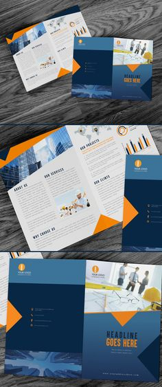 Pin By Best Graphic Design On Brochure Templates Pinterest - Construction brochure templates