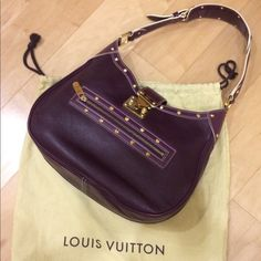 LOUIS VUITTON Suhali L'AFFRIOLANT Plum This gorgeous and luxurious shoulder bag from LV Suhali series matches many different styles from casual to dressy I've used only 3 or 4 times---in a great GREAT condition(I mean it!!). I'm selling plum color. Pic 2(white) is just to give you an idea of the size Purchased at a LV store in Tokyo around 2005/2006. [UPDATE] I found the original keys!! Louis Vuitton Bags