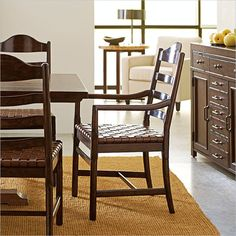 Artisan - Ladderback Arm Chair in Barrel - 135-11-70 - Stanley Furniture - dining room