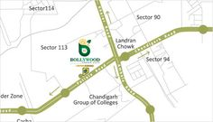 Location Map. #Floor Plan and #Layout plan of #Bollywoodgreencity sector 113 #Landran Chowk, #Mohali Punjab.140307 Book today.