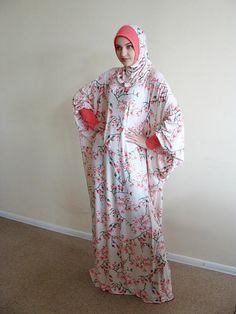 Ready to ramadan Floral beige Maxi Dress Plus Size, Elegant Prayer dress, Farasha Caftan, Muslim dress, abaya Dress,Modern hijab, Burqa, Nam