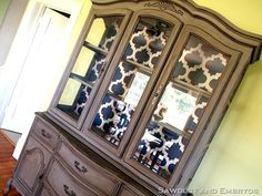 Love this China Cabinet!  If you don't follow this chic on Pinterest or at her website, you're missing out.