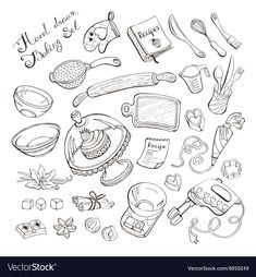 Cake Clipart Black and White . Cake Clipart Black and White . Easy Drawing Images, Easy Drawings, Doodle Drawings, Doodle Art, Doodle Illustrations, Cake Clipart, Cake Icon, Illustration Inspiration, Baking Items