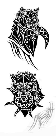 http://fc01.deviantart.net/fs70/f/2010/106/2/f/Skoll_and_Hati_Tattoos_by_KivuliMwitu.jpg