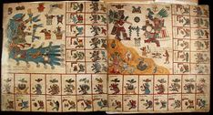 Codex Borbonicus a divinatory almanac used to divine the future for both practical and ritual purposes.  Central Mexico, after 1521
