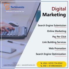 TechInvento IT Services-Top Web, Software & Digital Marketing Company Ios Application Development, App Development Companies, Web Application, Web Development, Digital Marketing Strategy, Marketing Strategies, Online Marketing, Search Engine Optimization, India