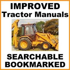 Case 580B Hydrostatic Drive Tractor Operators Owner Manual