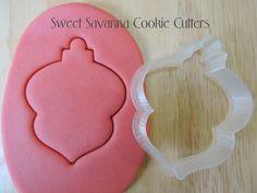 Christmas Bauble No.4 Cookie Cutter by SweetSavannaCookies on Etsy