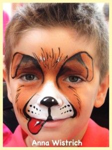 42 Easy Dog Face Painting Ideas For Kids Face Painting Images, Animal Face Paintings, Face Painting Designs, Animal Faces, Body Painting, Puppy Face Paint, Dog Face Paints, Kitty Face Paint, Cat Face