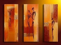3 Pics Abstract Figures Modern Art 100% Hand Painted Oil Painting on Canvas Wall Art Deco Home Decoration (Unstretch No Frame) Gd033 by galleryworldwide, http://www.amazon.com/dp/B0094X5M5C/ref=cm_sw_r_pi_dp_LKdUrb0E4QYTK