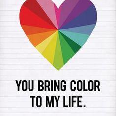 Rainbow Color Heart