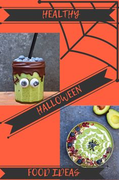 Healthy Halloween Party Food Ideas for kids and adults including Frankenstein avocado smoothies. Fun party good ideas for your Halloween themed party for everyone to enjoy. Halloween Craft Activities, Halloween Crafts For Toddlers, Halloween Food For Party, Halloween Desserts, Toddler Halloween, Diy Halloween Costumes, Halloween Themes, Healthy Halloween Treats, Spooky Treats
