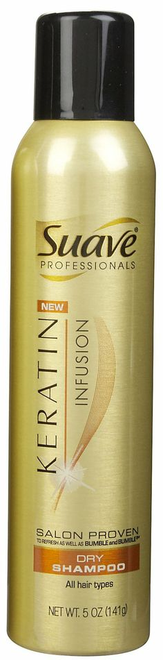 Suave Professionals Keratin Infusion, Dry Shampoo may be useful to manage dry hair. The shampoo may replenish the keratin of your hair and may help bring back its volume. The shampoo is meant for all hair types and makes hair feel soft. Absorption of oil while hair-wash may help keep your hair away from dryness.