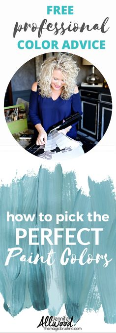 Free professional color advice on how to pick the perfect wall colors. This video from Jennifer Allwood of theMagicBrushinc.com will teach you how to pick paint colors and transform your living spaces into something beautiful!