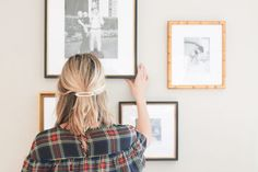 Black and white photos help unify our Providence, Mandalay, and Georgetown frame styles in this mini gallery wall