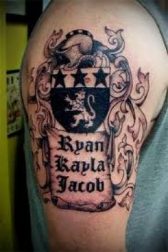 Coat of Arm Tattoos And Meanings-Family Crest Tattoos And Meanings ...