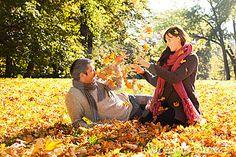 Autumn fall couple by Tarragona, via Dreamstime