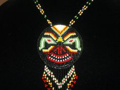 snake eyes necklace native american ,native art ,unique by dean couchie