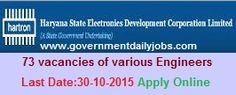HSEDCL RECRUITMENT 2015 VARIOUS ENGINEERS VACANCIES ~ Government Daily Jobs