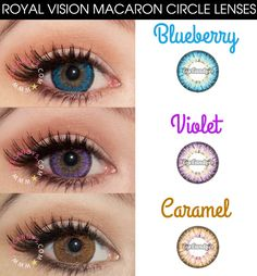 Royal Vision Macaron circle lenses cosmetic colored contacts