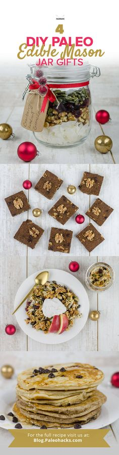 Everyone loves homemade mason jar gifts, especially when it's edible! So whether you're looking to fill your own pantry with seasonal treats or on the hunt for budget-friendly holiday gifts, these one-of-a-kind ideas are sure to please. Get the recipes here: http://paleo.co/masonjargifts