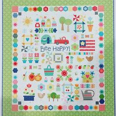 Have you heard or seen the latest news about next year's {SEPTEMBER 11, 2017} new Bee in my Bonnet's sew along? FQS posted a sneak peek on their instagram - they are at a QuiltMarket -- Lori will be doing another Sew Along called BEE HAPPY -- here are a couple of the pics I took. Riley Blake Designs does show the Bee Happy Sew Simple Shapes on their website if you do a search, but they aren't for sale yet - I CAN'T WAIT TO DO THIS ONE!!