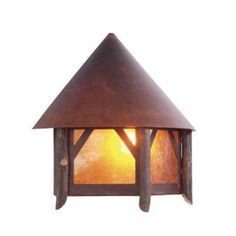 Steel Partners Campromise 1 Light Outdoor Flush Mount Finish: Mountain Brown, Shade Type: Amber Mica