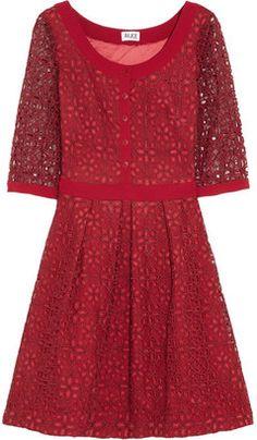 ALICE by Temperley Mitsu embroidered organza dress