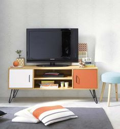 Mobile TV vintage 2 ante tricolore | Tv units, Doors and Interiors