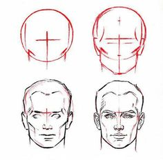How to draw man face's - Abed Ramadan