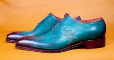 Three Tier Blue Whole master Ivan Crivellaro Shoemaker shoes
