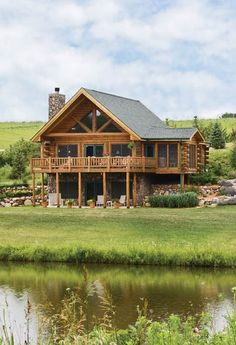 Rustikales Iowa-Blockhaus von Expedition Log Homes – Home Design Log Home Living, Living Room, Rustic Home Design, Rustic Homes, Cottage Design, Country Homes, Log Cabin Homes, Log Cabins, Log Cabin Plans
