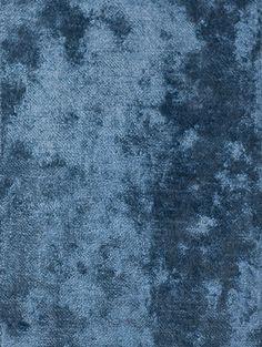 Dapple Velvet A sumptuous deep pile velvet upholstery and curtain fabric in Indigo.