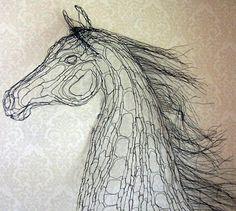 World Class Wire Sculpture by Elizabeth Berrien - Horse Heads646 x 579   110.1 KB   www.wirelady.com