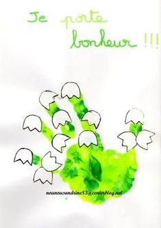 activité manuelle : 1er mai : muguet
