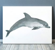 Nice nursery art for your home. Lovely nautical decor. Cute dolphin watercolor print. BUY 1 GET 1 FREE - use coupon code 777BIRDS at checkout.