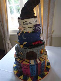 Harry Potter Cake #potter #harrypotter #weddingcake Harry Potter Cake, Cake Blog, Wedding Cakes, Children, Wedding Gown Cakes, Young Children, Boys, Wedding Cake, Kids
