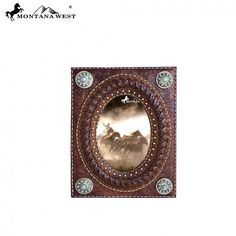 Brown Floral Tooled Oval Montana West Photo Frame
