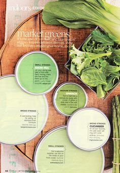 Market greens palette