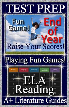 Have fun with this End of the Year Test Prep Reading ELA review game. Play this game to review:The Elements of Plot, Types of Sentences, Figurative Language, Persuasive Devices, and Story Elements. This is a great review for a state or national test. It is also a fun way to make sure your students are maintaining their ELA Language Arts skills throughout the year.